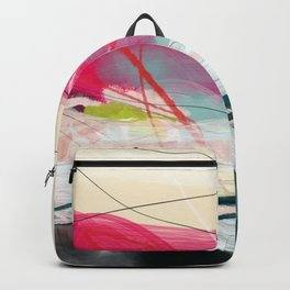 abstract landscape with pink sky over white cloud mountain Backpack