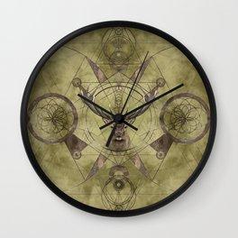 Deer Sacred Geometry Digital Art Wall Clock