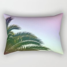 Palm Leaves  - Tropical Sky - Chilling Time Rectangular Pillow