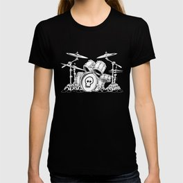 Drum Set Cartoon T-shirt