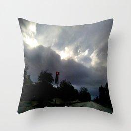 Rainy Overcast Throw Pillow