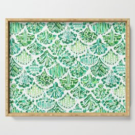 MERMAIDS OF SV Green Fish Scale Serving Tray