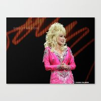 dolly parton Canvas Prints featuring Dolly Parton in Gothenburg 8/28/11 by Diana Falheim