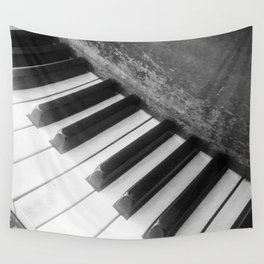 Piano Scars Wall Tapestry