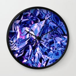 Fluid Painting 3 (Blue Version) Wall Clock