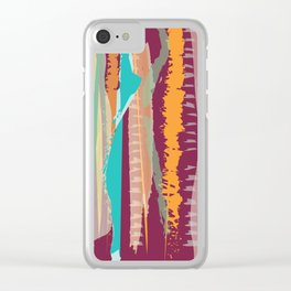 Strokes of colors Clear iPhone Case