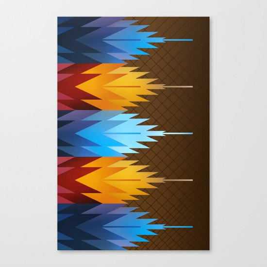 Navajo Fire & Ice Canvas Print