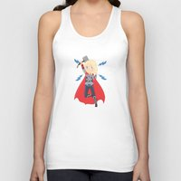 thor Tank Tops featuring Thor by Nozubozu