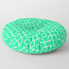 Grille No. 4 -- Seafoam Floor Pillow