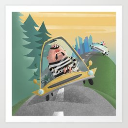 Cops and Robbers Art Print