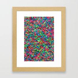 Rainbow gravel Framed Art Print