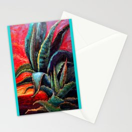 Southwest-western Style Desert Agave in Sunrise Stationery Cards
