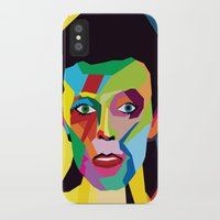 bowie iPhone & iPod Cases featuring bowie by mark ashkenazi