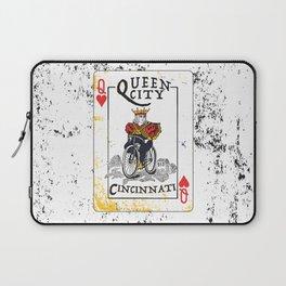 Queen of Cincinnati Bike Print Laptop Sleeve