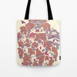 The orchard is such a very silly place Tote Bag