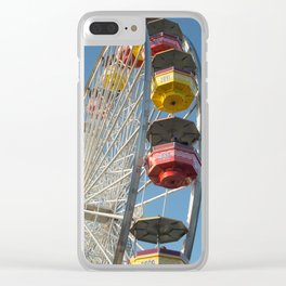 Santa Monica Pier Wheel Clear iPhone Case