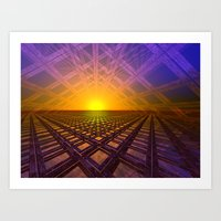 stargate Art Prints featuring Stargate by Phil Perkins