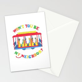 Mister Rogers Neighborhood Trolley Stationery Cards