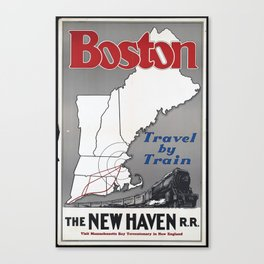 Boston The New Haven Canvas Print