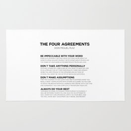 the four agreements Rug