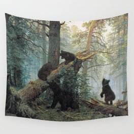 Shishkin Ivan Morning in a Pine Forest. Wall Tapestry