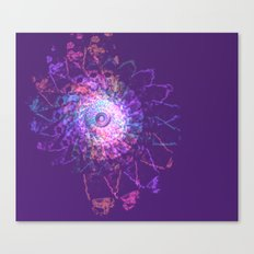 Rainbow Lace Spiral Canvas Print
