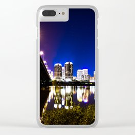 RVA Skyline at Night Clear iPhone Case
