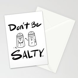 Don't Be Salty Stationery Cards
