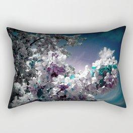 Flowers Purple & Teal Rectangular Pillow