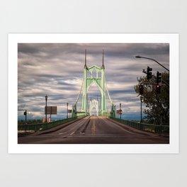 Saint Johns Bridge at Sunset Art Print