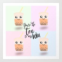 50 shades of boba tea Art Print