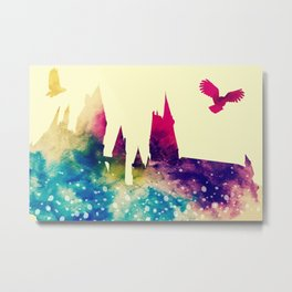 Hogwarts watercolor Metal Print