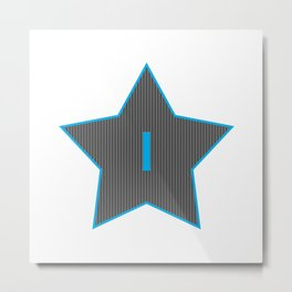 Initials | Star | I Metal Print