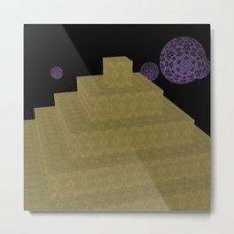 Pyramide Grotesque 30 Metal Print