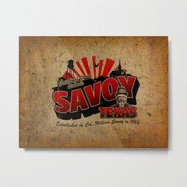 Greetings From Savoy Metal Print