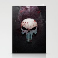 punisher Stationery Cards featuring Punisher Skull  by Electra