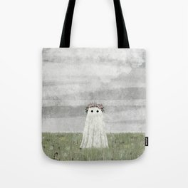 There's A Ghost in the Summer Meadow Tote Bag