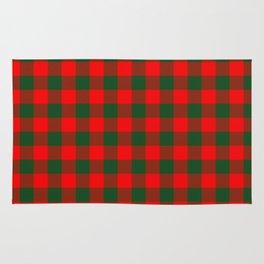 Jumbo Holly Red and Balsam Green Christmas Country Cabin Buffalo Check Rug