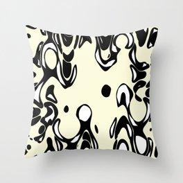 Cream Spirits Throw Pillow