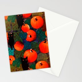 Pumpkins and Black Cats Stationery Cards