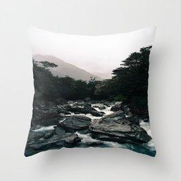Routeburn River Throw Pillow