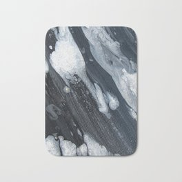 untitled (3189 blck and white) Bath Mat