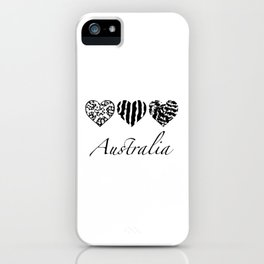 Australian heart patterns iPhone Case