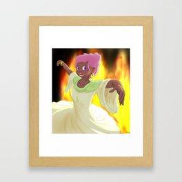 Dancer of Fire Framed Art Print