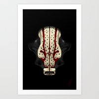 """runner Art Prints featuring """"Runner"""" by Chmillout"""