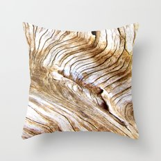Organic design Tree Wood Grain Driftwood natures pattern Throw Pillow
