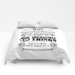 Alice in Wonderland Six Impossible Things Comforters