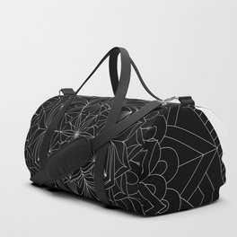Tranquility | No. 1 | Black and white | Mandala Art Duffle Bag