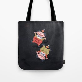 Tweedledee and Tweedledum - Alice in Wonderland Tote Bag