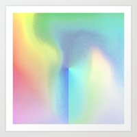 holographic Art Prints featuring Holographic Pastel by Sara Eshak